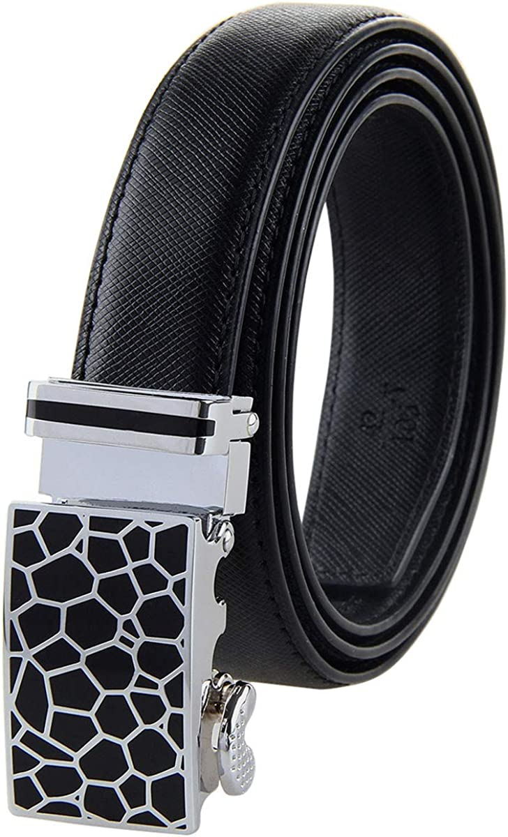 Bpstar Womens Ratchet Leather Belt with Sliding Buckle for Dress//Jeans