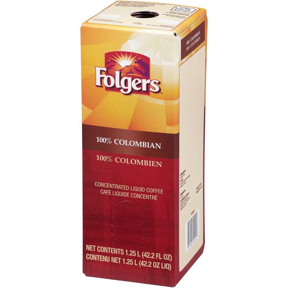 Folgers 100 Percent Colombian Coffee Liquid, 1.25 Liter - 2 per pack -- 1 each.