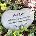 Garden Age Supply Memorial Stones for Mom - Mother Memorial Engraved Stepping Stone, Heart Shaped Stepping Stone