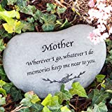 Memorial Stones for Mom – Mother Memorial Engraved Stepping Stone, Heart Shaped Stepping Stone Review