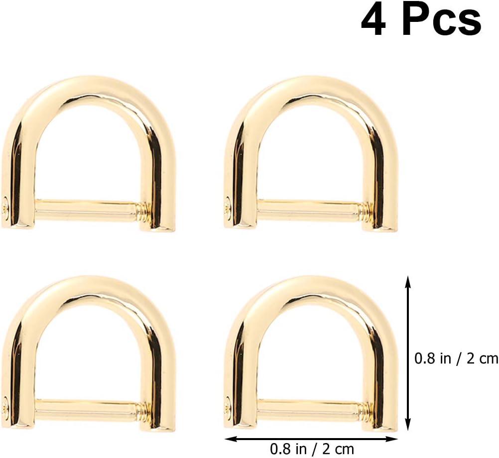 2.2x2cm goldfarben Gold Artibetter D-Ringe Schraubb/ügel Hufeisen U-Form D-Ring DIY Leder Handwerk Geldb/örse Schl/üsselanh/änger Zubeh/ör f/ür Gurt 4 St/ück
