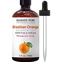 Majestic Pure Brazilian Orange Essential Oil, 100% Pure and Natural with Therapeutic Grade, Premium Quality Brazilian…