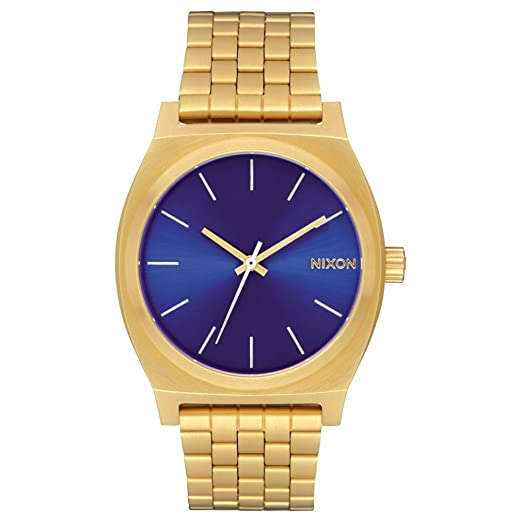 Reloj NIXON Time Teller All Gold Blue Sunray A0452735 Hombre: Amazon.es: Relojes