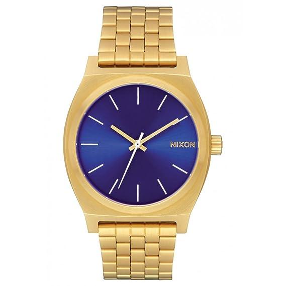 Reloj NIXON Time Teller All Gold Blue Sunray A0452735 Hombre  Amazon.es   Relojes 6ee864a9b8df