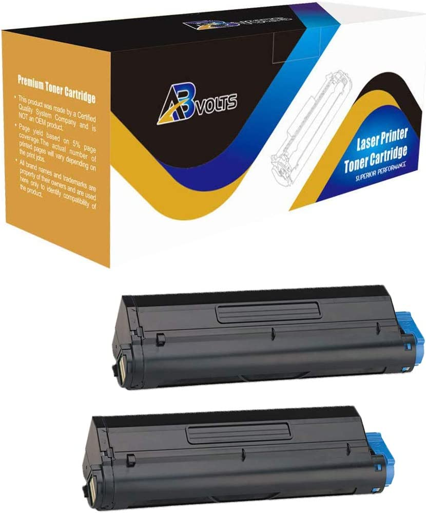 AB Volts Compatible Toner Cartridge Replacement for Okidata 43502001 for B4400 B4600 Black,2-Pack
