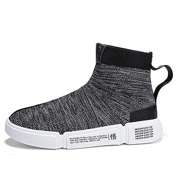 HCMONSTER Zapatillas de Deporte Zapatillas Altas para Hombre Zapatos Unisex  Superiores Transpirables Calzado Casual Hip Hop 279a79fb5b1