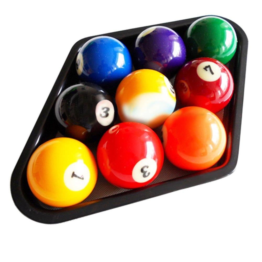 vanpower Plastic Billiards 9 Ball Pool Table Triangle Rack Heavy Duty Black