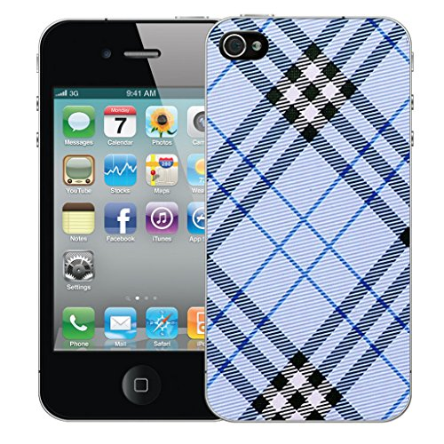 Mobile Case Mate iPhone 5s Silicone Coque couverture case cover Pare-chocs + STYLET - Blue Oblique pattern (SILICON)