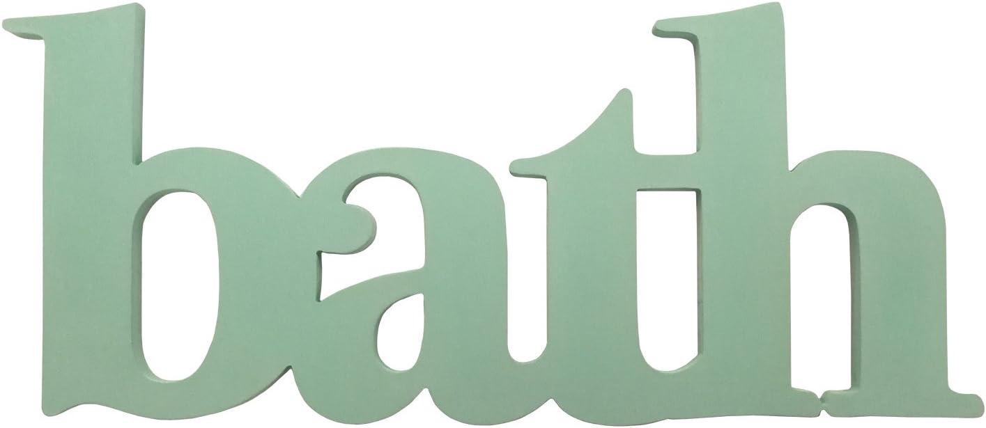 Stratton Home Decor S07753 Seafoam Bath Wall Decor, 18.00 W x 0.50 D x 8.00 H, Multi