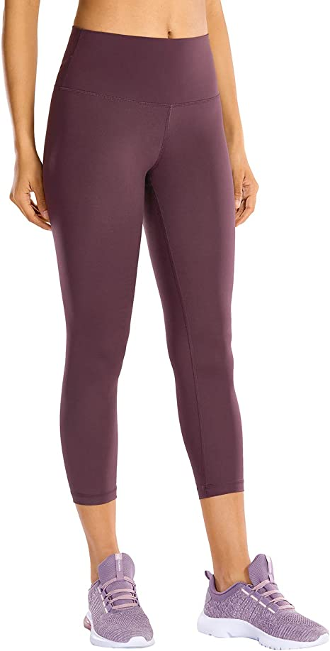 CRZ YOGA High Waisted Capri Workout Leggings for Women Hugged Feeling Athletic Compression Leggings -21 Inches