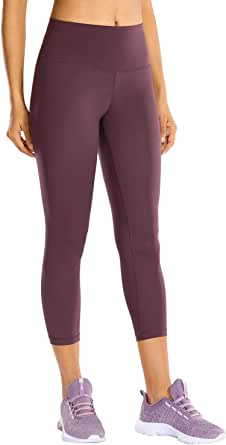 CRZ YOGA Women's Hugged Feeling High Waisted Workout Athletic Compression Capri Leggings - 21 Inches
