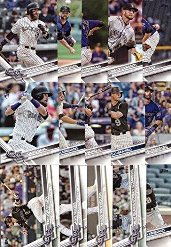 Colorado Rockies Collectibles (2017 Topps Series 1 Colorado Rockies Baseball Card Team Set - 15 Card Set - Includes Nolan Arenado, Trevor Story, Charlie Blackmon, David Dahl, Jon Gray, and more!)