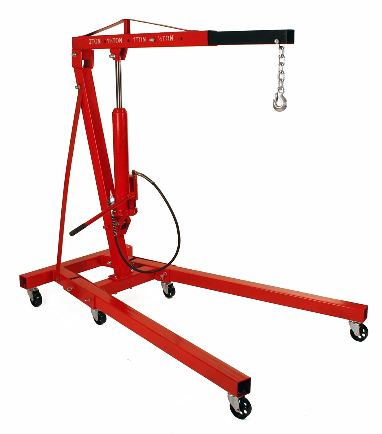 Amazon.com: Dragway Tools 2 Ton Folding Air Hydraulic Engine Hoist Cherry  Picker Shop Crane Hoist Lift: Automotive