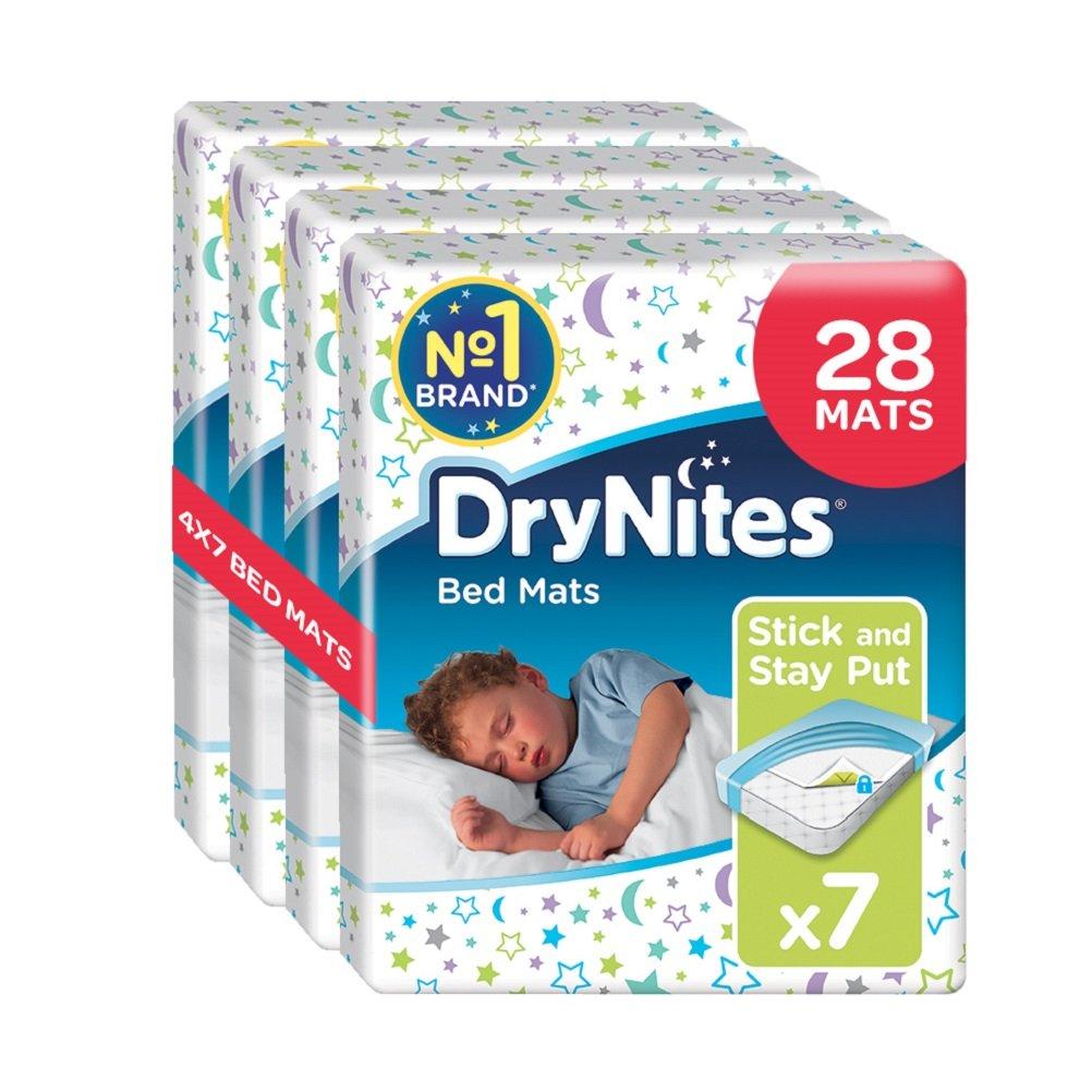 Huggies DryNites Disposable Bed Mats, Mattress Protector, 28 Mats Total (4 Packs of 7 Mats) Kimberly-Clark B0085KGYOI 02907030