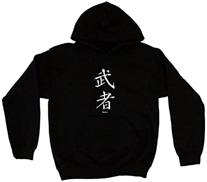 e1cb480d7 Amazon.com: Warrior Japanese Symbol Men's Hoodie Sweat Shirt: Clothing