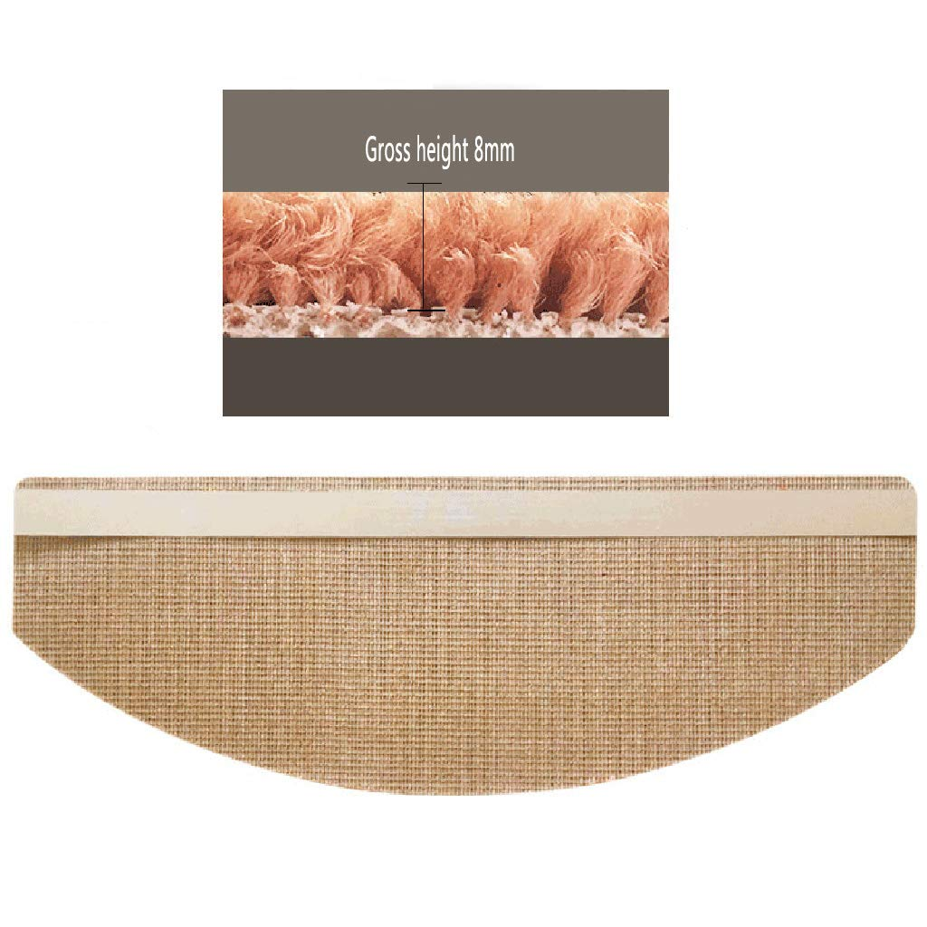 5 piece Stair Carpet-solid Wood Stair Mat Glue-free Self-priming Anti-slip Home Thickening Environmental Mute Step Mat , Size : 100 * 24 * 3cm Color : A