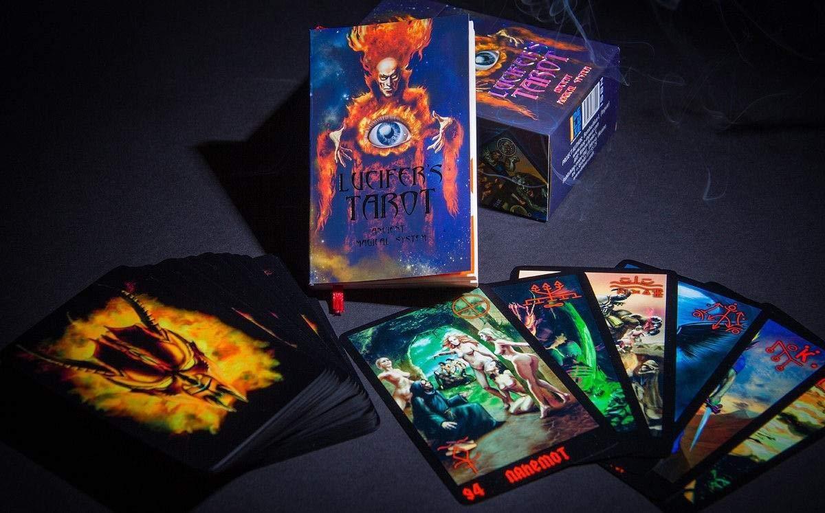 Lucifer's Tarot - Dark Tarot Cards -105 Occult Tarot Card Deck + Russian Guidebook by Delux (Image #2)