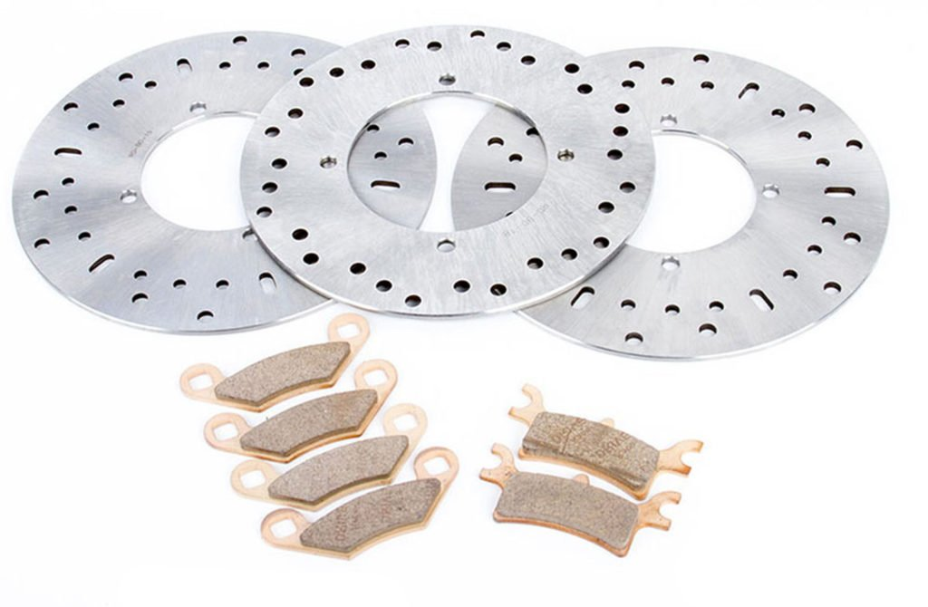 2002 2003 2004 Polaris 700 Sportsman Front & Rear Brake Rotors & Brake Pads