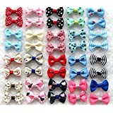 Dogs Kingdom Variety Patterns Pet Dog Cat Head Flower Hairpin Pet Bow Hairpin Random-5Pcs One Size