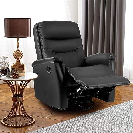 Phenomenal Life Carver 3600 Swivel Leather Recliner Armchair Reclining Sofa Padded Ergonomic Comfort Manual Reclining Chair Rocking Chair Lounge Chair Ibusinesslaw Wood Chair Design Ideas Ibusinesslaworg