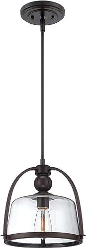 Quoizel QPP1401WT Piccolo Bell Glass Mini Pendant Ceiling Lighting, 1-Light, 100 Watt, Western Bronze 11 H x 12 W
