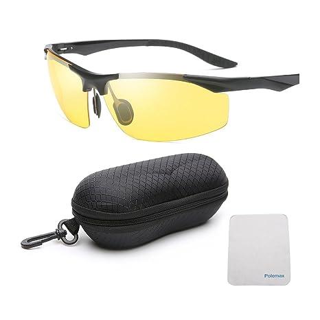213adbca670 Redysun Night Driving Glasses - Anti-Glare HD Vision - Yellow Tint  Polycarbonate Lens -