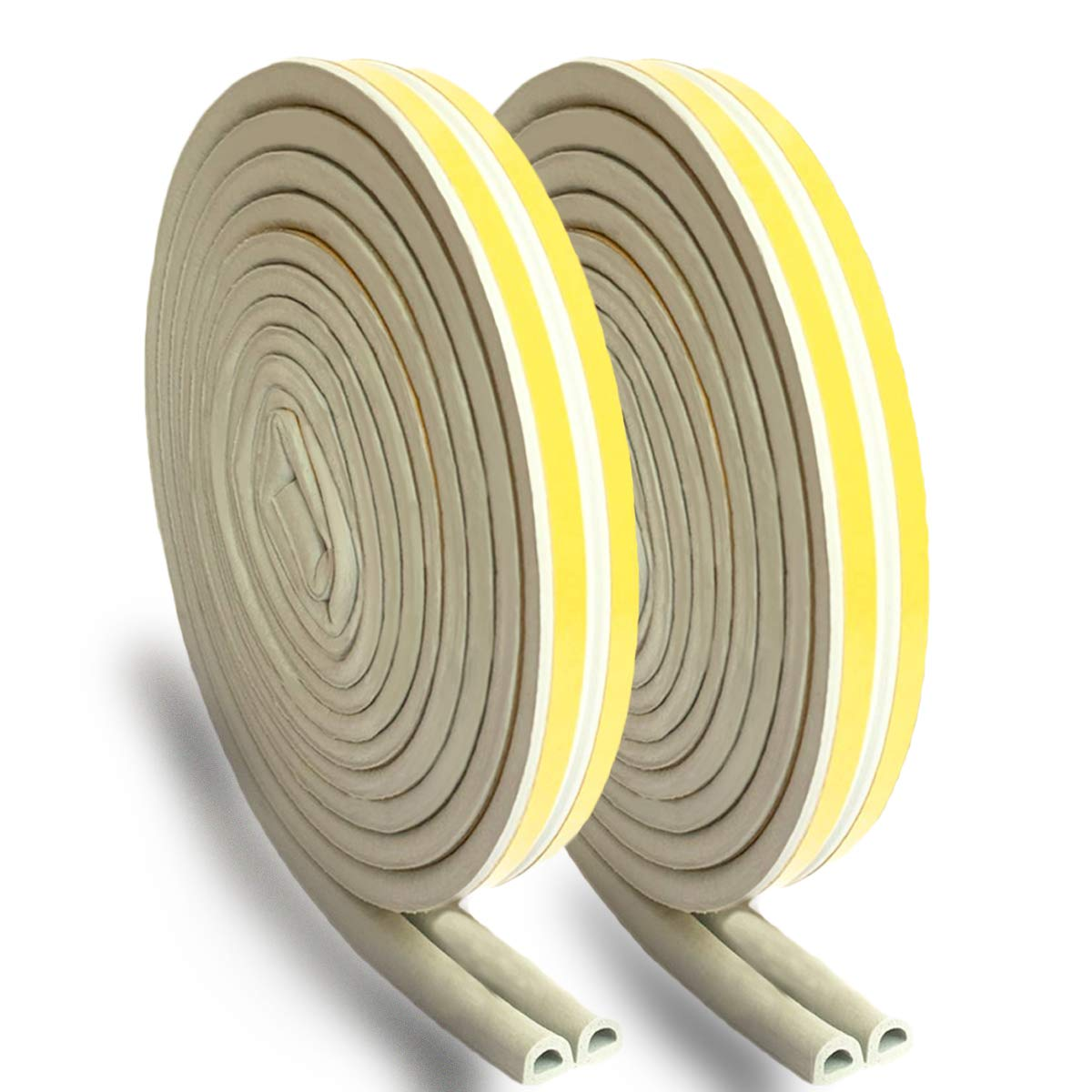 35mm, Translucent Weather Stripping Door Seal Strip Self Adhesive Silicone Door Draft Stopper Bottom Gap Replacement Strip Roll Weatherproof Soundproof for Door Window-Length 16.5Ft