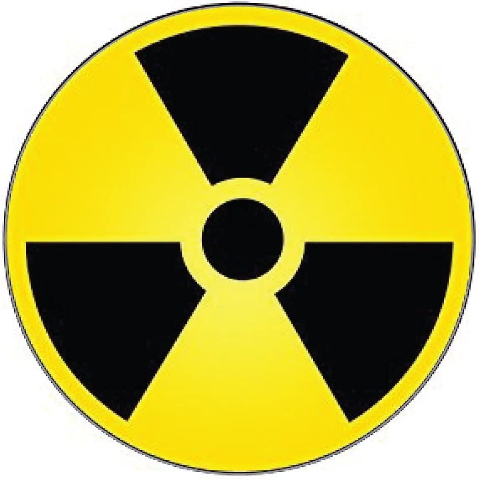 Ride in Style Nuclear Radiation Warning Sign Sticker Decal 4 x 4