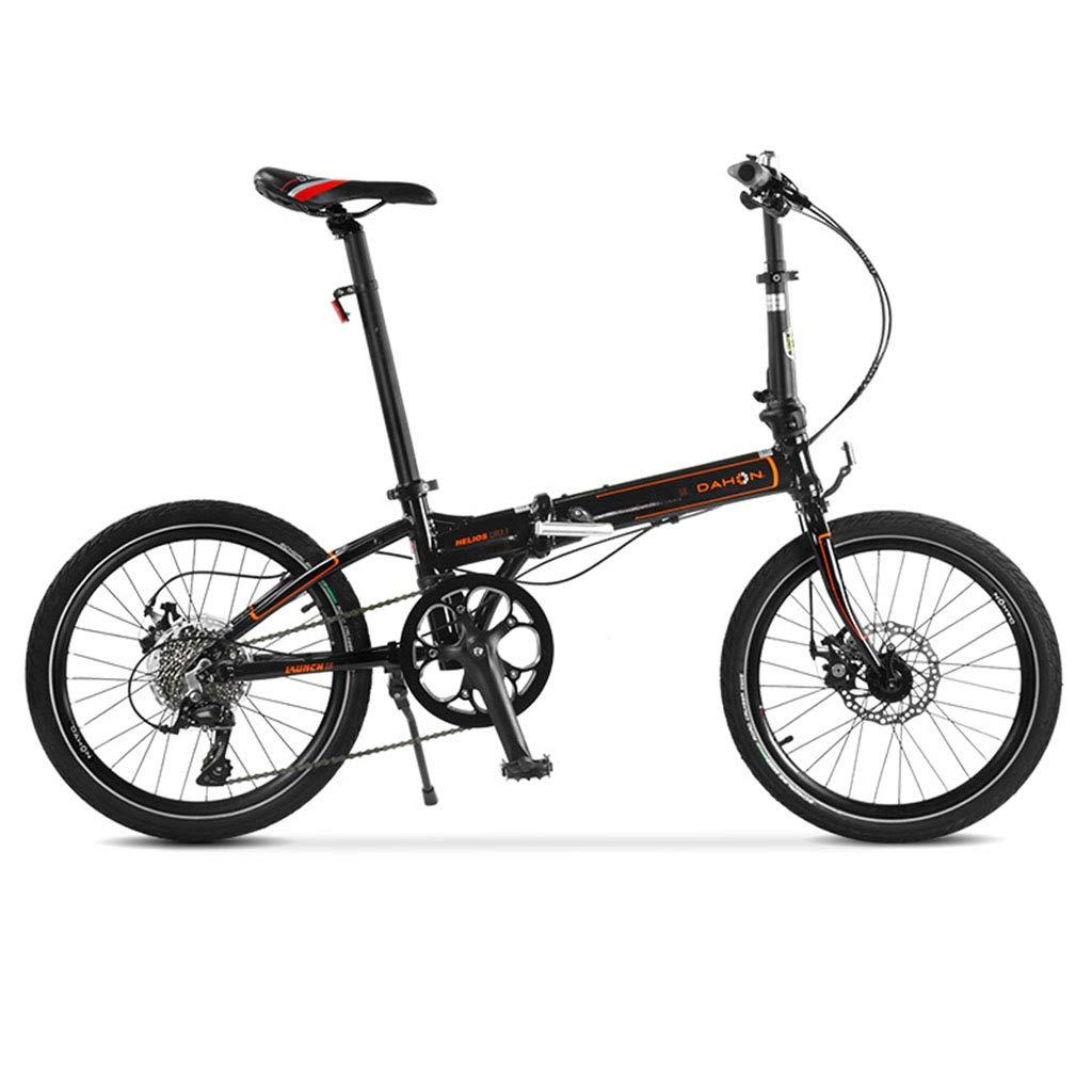 折りたたみ自転車 自転車折りたたみ自転車アルミニウム合金ユニセックス20インチホイールセット超軽量自転車 (Color : Black, Size : 150*30*108cm) 150*30*108cm Black B07JC346YZ