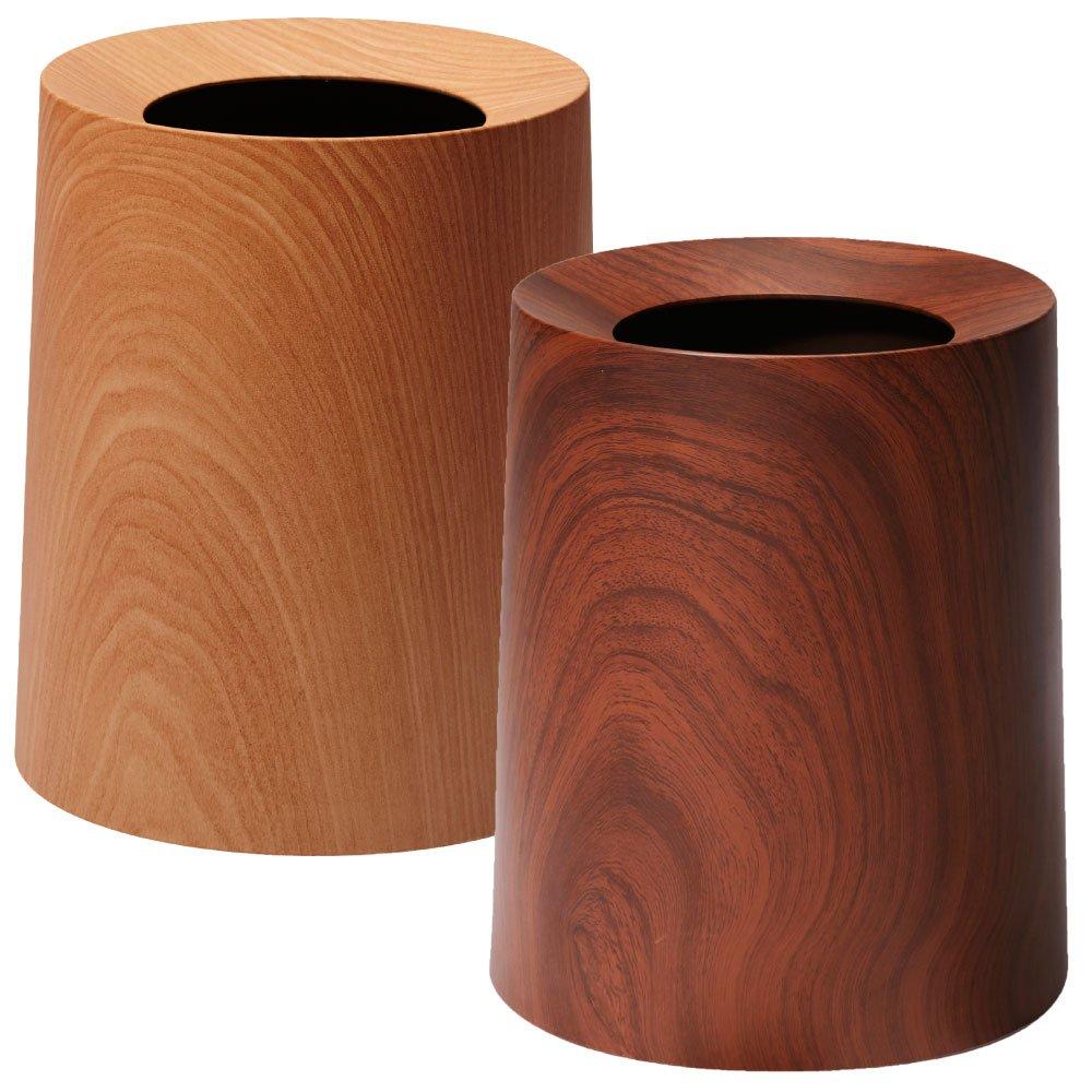 イデアコ ゴミ袋が隠せるゴミ箱 チューブラー オム TUBELOR HOMME 2個セット ごみ箱 ダストボックス (オークウッド×ローズウッド) B01J34TP2W オークウッド×ローズウッド オークウッド×ローズウッド