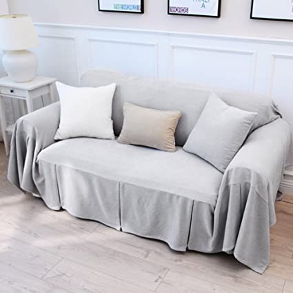 Solid Color Sofa Cover,Sofa Cover Full Cover Sofa Cloth Sofa Covers For 1 2