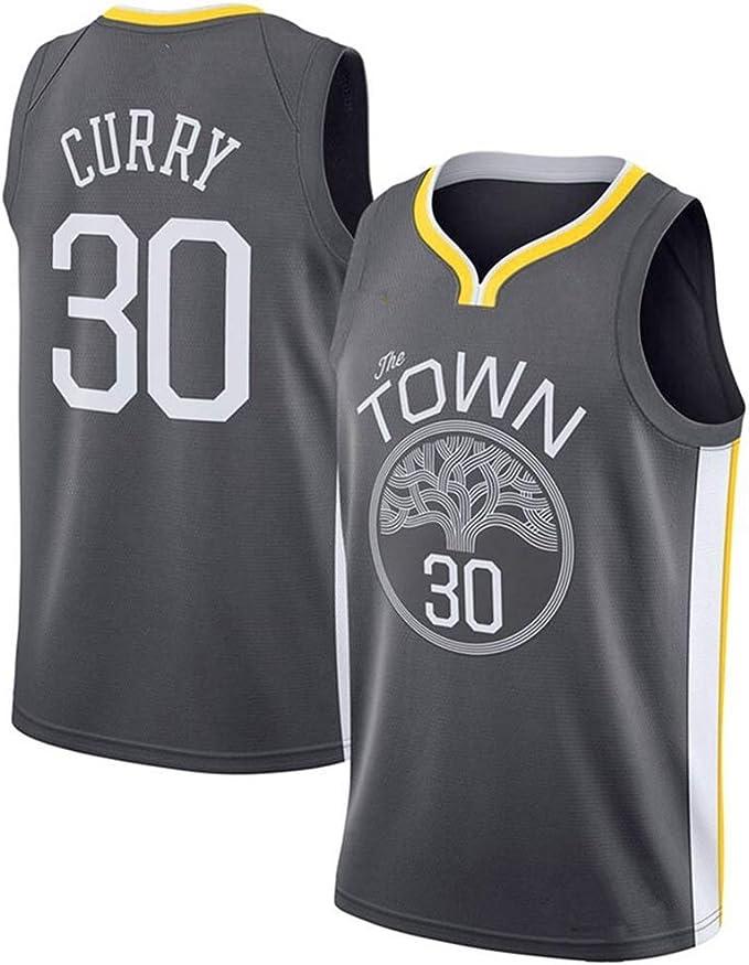 YYFZ Stephen Curry 30 Warriors Camisetas de Baloncesto, Trajes ...