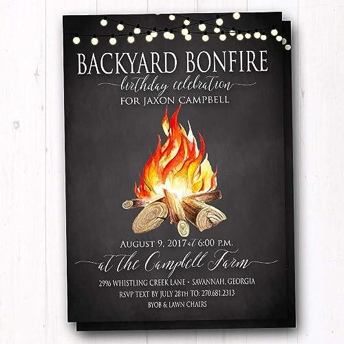 Amazon Bonfire Party Invites