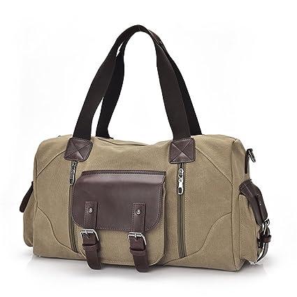 e03e0deed6b8 Amazon.com: Ybriefbag Unisex Canvas Travel Bag, Shoulder, Rectangle ...