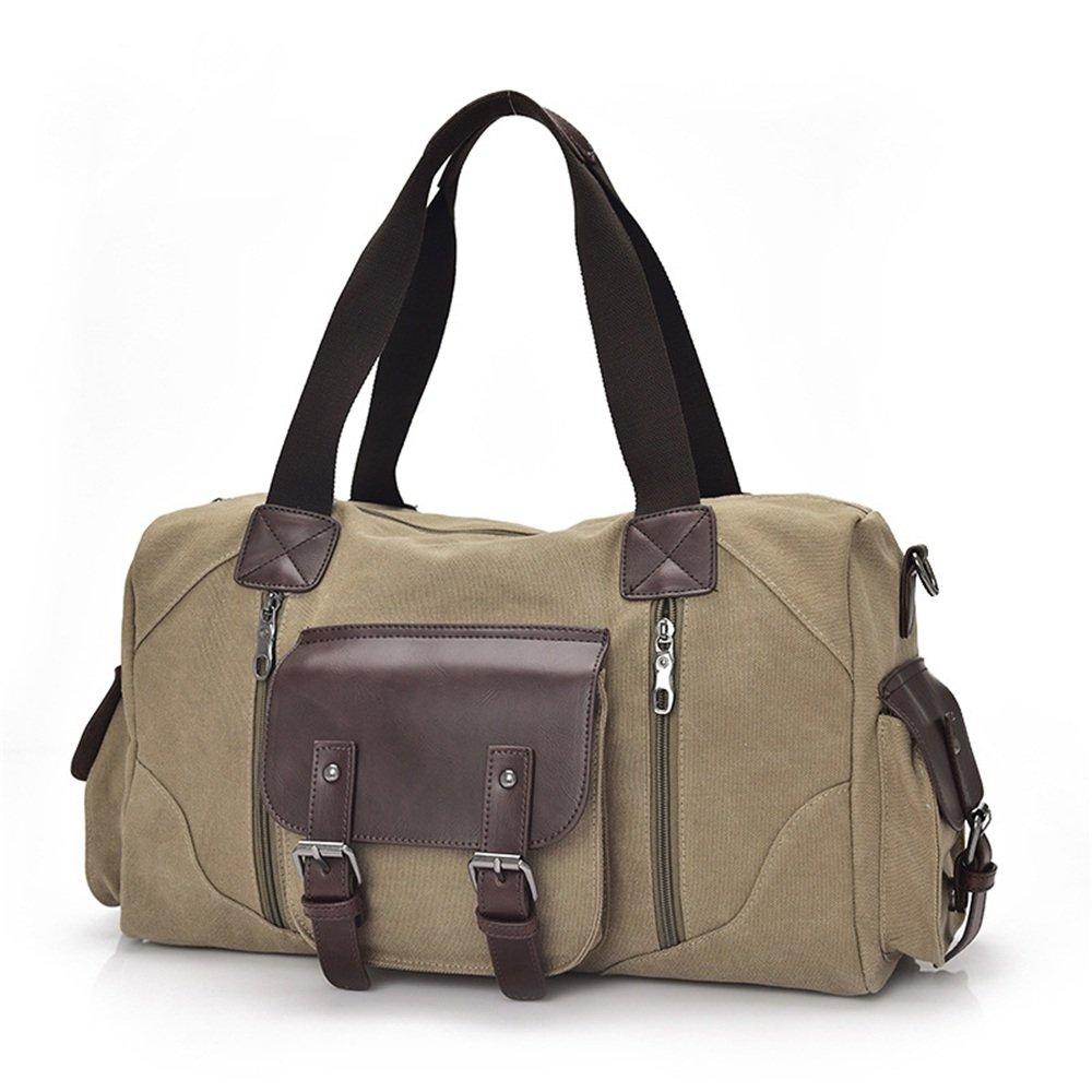 Ybriefbag Unisex Canvas Travel Bag, Shoulder, Rectangle, Outdoor Men's Satchel, Leisure Travel, Fitness Bag, Travel Bag. Vacation