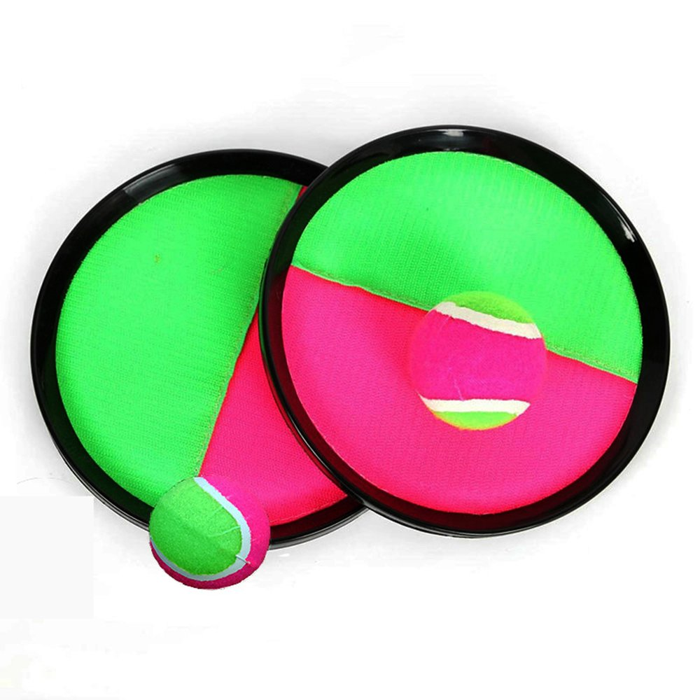 Toss and Catch Ball Game with Disc Paddles, Toptik Paddle Tennis Toy With tow ball Throwing Sport Toy, Geat famaily game in Indoor Or Outdoor Beach, Lawn or Backyard