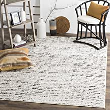 Safavieh Adirondack Collection ADR117B Ivory and Silver Contemporary Area Rug (4' x 6')