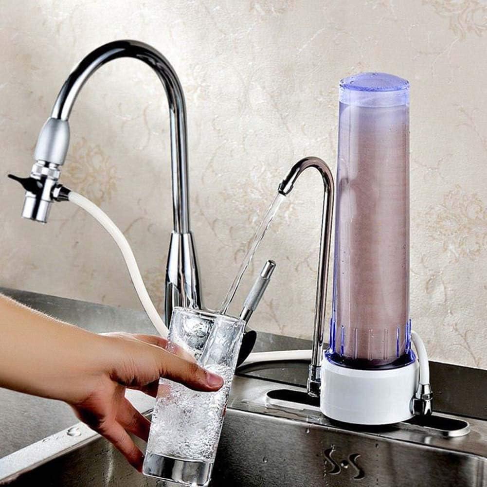 YDBET Controsoffitto Potabile Filtro Acqua Rubinetto depuratore di Acqua Filtro di purificazione Dispositivo di filtraggio per Rimuovere residuo di Cloro e sedimenti,D D