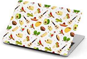 [ Compatible with MacBook PRO 13 inch (Model A1706 / A1708 / A1989 / A2159 - (Year 2016-2019) ] Full Body Hard Case Cover - Aztec Cartoon Mexican Food