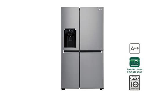 LG GSL761PZUZ nevera puerta lado a lado Independiente Acero inoxidable 601 L A++ - Frigorífico side-by-side (Independiente, Acero inoxidable, ...