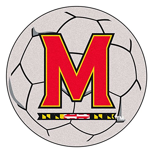 (NCAA University of Maryland Terps Soccer Ball Mat Round Area Rug)