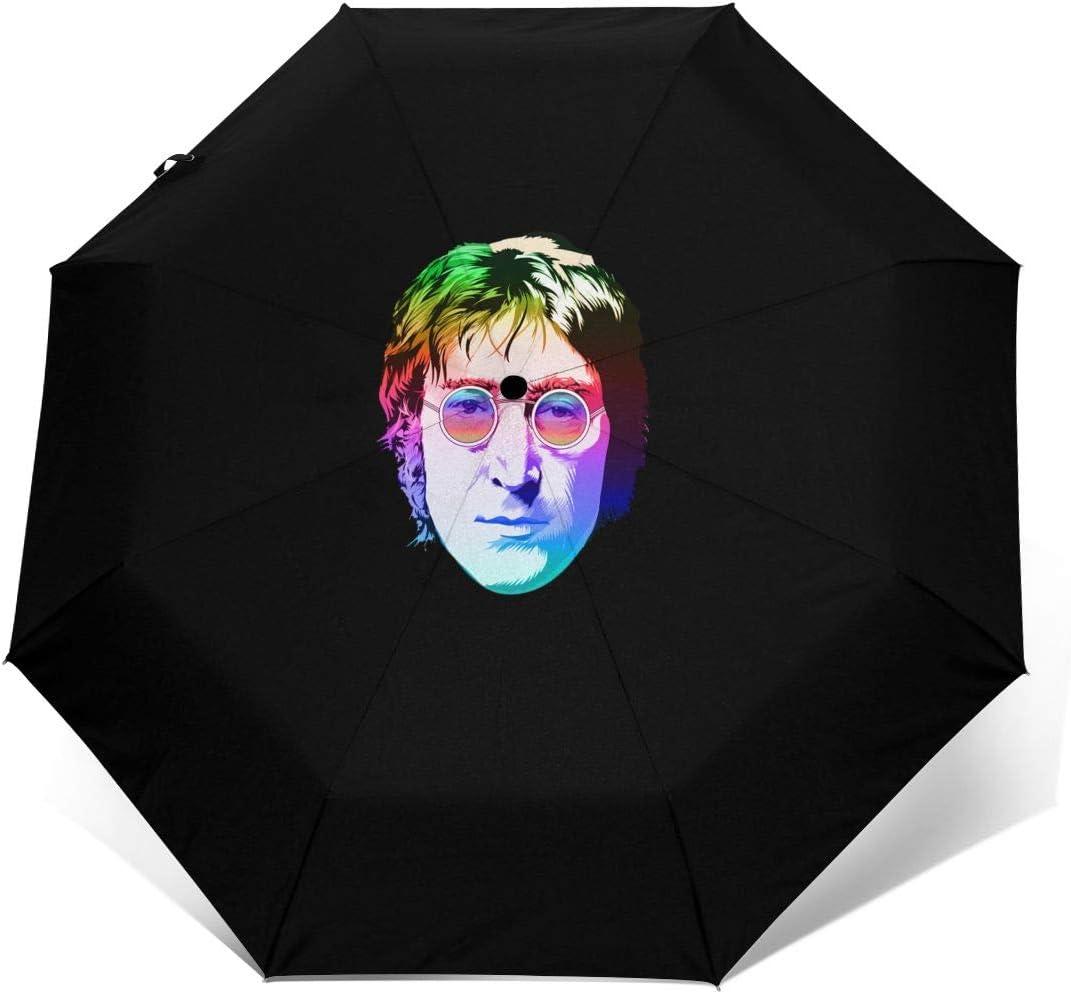 The Beatl/_es Windproof Travel Umbrella Compact Folding Umbrella Sun Rain Umbrellas UV Protection Automatic Open//Close UV UPF