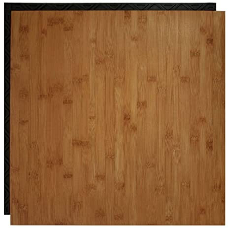 Bamboo 185 In X 185 In Interlocking Waterproof Vinyl Tile With