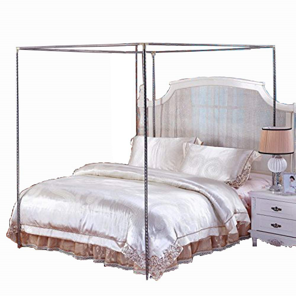 Stainless Steel Canopy Mosquito Netting Canopies Frame/Post Twin Full Queen King Size (Twin XL) Ka-bed frames