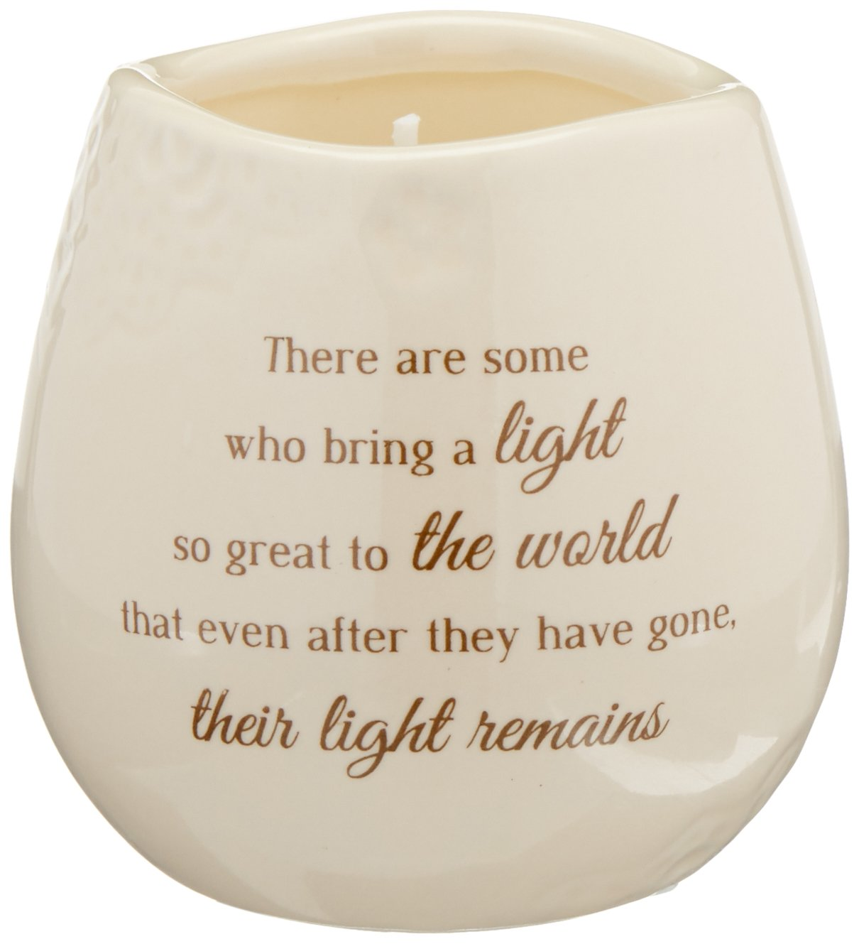 Light Your Way Memorial 19176 Remains Ceramic Soy Wax Candle Pavilion Gift Company
