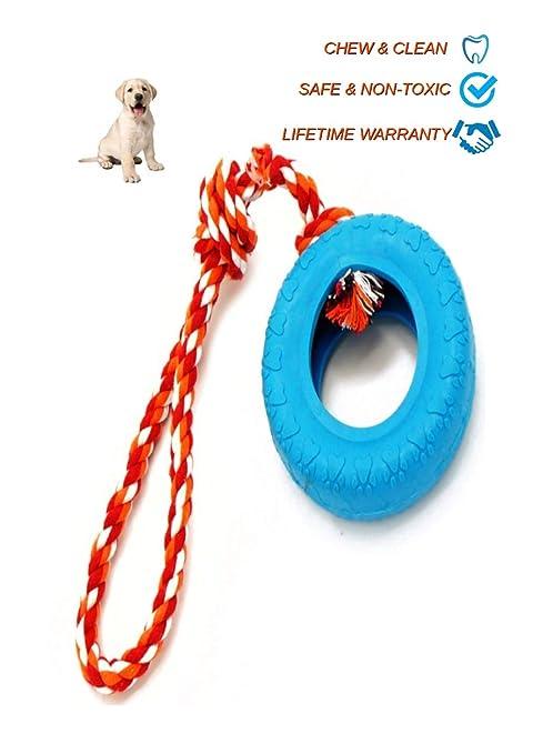 Ninja Dog Toys Rueda Perro Juguete de Goma con Cuerda ...