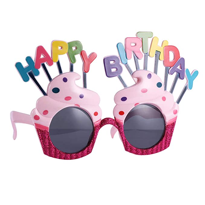 Amosfun 2 pares de gafas de sol con forma de pastel feliz ...