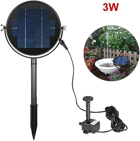 cypressen - Bomba Solar para pozos de 3 W, minibomba de Pozo Resistente al Agua, Panel Solar Duradero con Bomba Sumergible para Fuentes de jardín, baño de pájaros: Amazon.es: Hogar