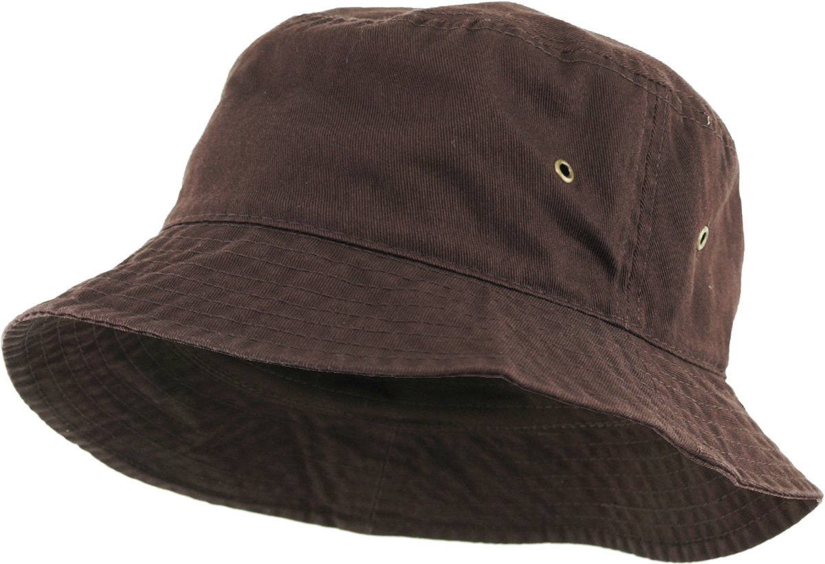 63e567c52 KBETHOS KB-BUCKET1 BRN Unisex 100% Washed Cotton Bucket Hat Summer Outdoor  Cap