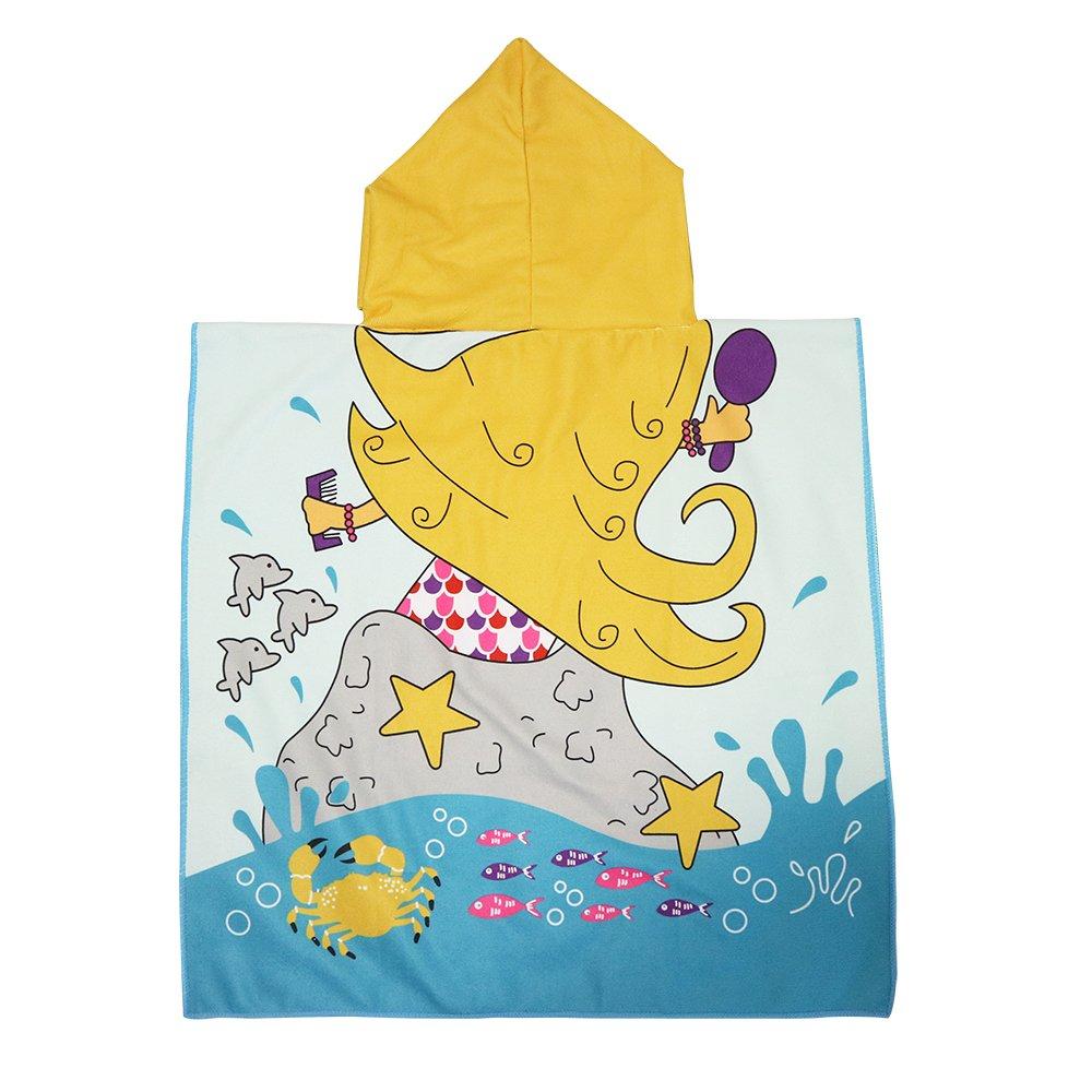 Xplanet Toddler Beach Bath Towel, Multi-use for Hooded Poncho Swim Beach Pool Poncho Bath Towel, Home Bath Robe for Kids Child 2-7 Years Boy&Girls by Xplanet (Image #2)